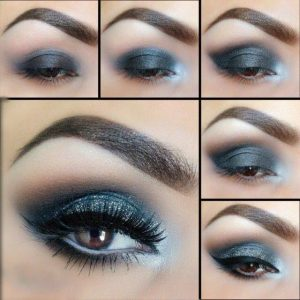 Blue-and-Silver-Smokey-Eye-Inspired-Makeup